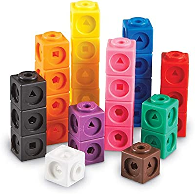 Learning Resources MathLink Cubes, Homeschool, Educational Counting Toy, Math Cubes, Linking Cubes, Early Math Skills, Math Manipulatives, Set of 100 Cubes, Ages 5+ from Learning Resources