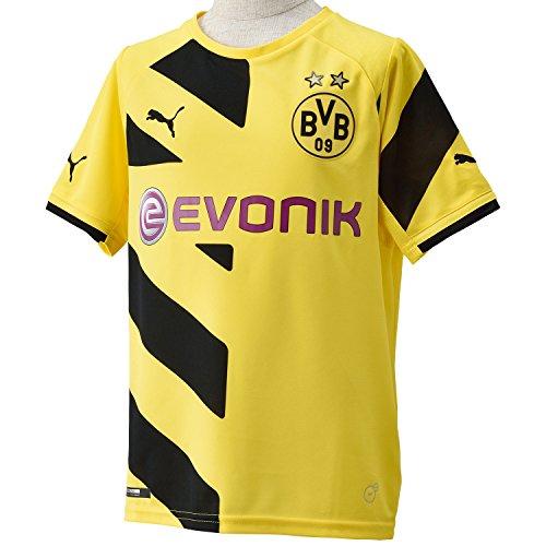 PUMA Kinder Trikot BVB Kids Home Replica Shirt, Cyber Yellow-Black, 164