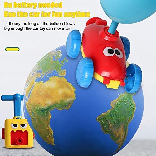 SNIIA Luftballonauto, Ballonauto, Ballon Flitzer, Auto Ballon Antrieb, Auto mit Luftballon, Auto Physik Experiment Ballon Rückstoß DIY Wissenschaft Lernspielzeug Kit, Spielzeug Geschenk für onsale