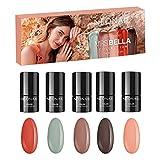 NEONAIL x MRS BELLA Kit de manicura sempermanente - MRS BELLA COLLECTION Set 5x Esmaltes de uñas Rojo, Beige, Verde
