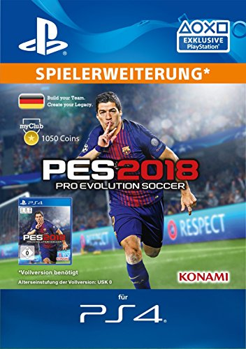 PES 2018 myClub Coin 1050 [PS4 Download Code - deutsches Konto]