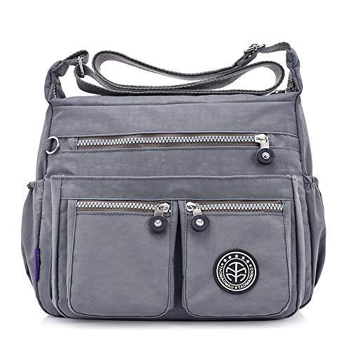 LIHAEI Nylontaschen UmhäNgetasche Damen Handtasche Einfarbig Taschen Handtaschen Taschenmuschi Mode Schultertasche Crossbody Tasche