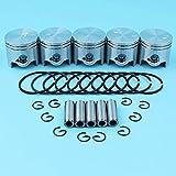 Juego de 5 anillos de retención de pasador de pistón de 38 mm compatibles con Stihl FS120 FS200 FS200R FS250 BT120 BT121 HT250 Trimmer Desbrozadoras Motor 41340201212