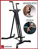 Sportstech Innovativo Stepper & Climber VC300 2in1, Fitness, movimenti per arrampicata, pieghevole...