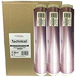 Sesiomworld Caja 3 Rollos de Film Osmótico Transparente Technical 30Cm. X 200Metros Profesional 3 Unidades 2400 g