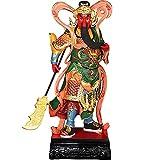 XH&XH Estatua de Buda Figura Religiosa Escultura Zen Guan Gong Poliresina Adorno para el hogar Artesanía Coleccionable Regalo de inauguración de la casa-Colorido 12 Pulgadas