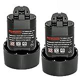 [2-Pacco]Bsioff 3000mAh Batteria Compatibile per Makita BL1013 10,8V 3,0Ah Li-ion Batteria di Ricambio BL1014 194550-6 194551-4 DF030DW DF030D DF030DWX DF330D TD090D TD090DWE TD090DWX TD090DWXW