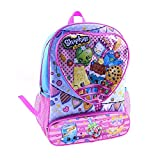 Shopkins Backpack - Dual Front Pockets, Multi-Colored, 15'