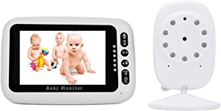 Baby Monitor with Camera and Audio Transmission Distance 984ft Built-in 8 Kinds of Lullaby Alarm Function Two-Way Voice Ca...