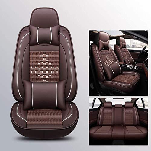 LUCK Asiento de coche cubierta de asiento de coche cubierta cuatro estaciones universal compatible c