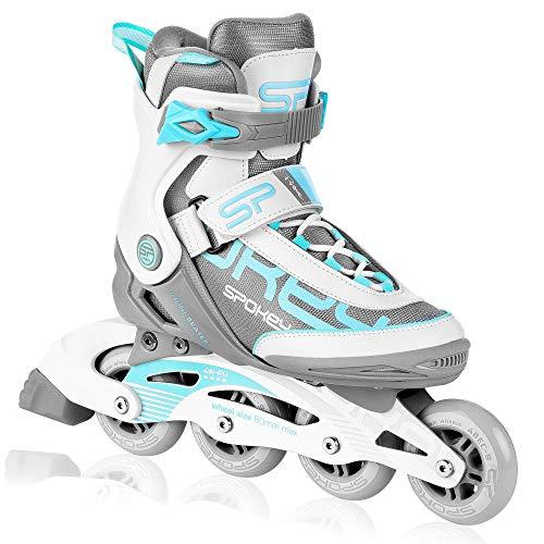 Spokey Prime PRO Inline Skates für Erwachsene bis max. Gewicht 100 kg| Alu-Schienen, Kugellager ABEC-9 Carbon, PU Rolle 82 A, Rollengröße: Ø 80 mm, anatomische Innensohle, Heelock