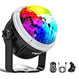 Disco Lights, OMERIL Music Activated Disco Ball Lights with Star Pattern, 11 RGBY