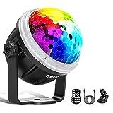 Discokugel LED Party Lampe OMERIL Partylicht mit Sternenmuster 10 Farbe RGBY Musikgesteuert 4M USB Disco Lichteffekte 360° Drehbares Discolampe...