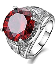 Luxurious men ring silver With red Granite stone US size 7