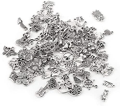 100 pièces motif mixte tibétain argent charme accessoires pièces pendentifs fabrication artisanale, argent et populaire ?
