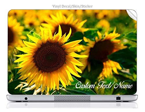 Moonlight4225 Custom Personalized Laptop Notebook Skin Sticker Vinyl Decal Cover Art Yellow Sunflower Flower Springtime Summertime (15.6 Inch)