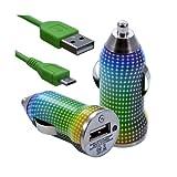 Seluxion–Cargador coche mechero USB Cable Data con para Samsung Galaxy S4Active con motivo cv13