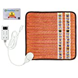 HealthyLine Far Infrared Small Heating Pad - Soft Mat Filled with Amethyst, Tourmaline and Obsidian Crystals - Negative Ion Therapy, EMF Blocking, Pain Relief - TAO Inframat Pro