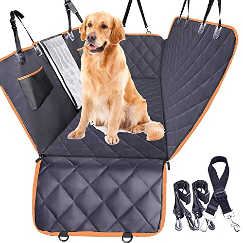 Big Ant Dog Car Seat Cover with Bonus Seat Belt Cover,4-in-1 WaterproofPet Seat Protector Nonslip Dog Seat Cover Scratchproof Hammock Dogs Back Seat Cover for Toyota RAV4,Cars Vans Sedan