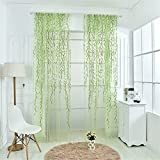 FACWAWF Hogar Simple Y Fresco Estilo Pastoral Mimbre Sala De Estar Balcón Dormitorio Semi Cortinas Opacas 100x270cm(1pcs)