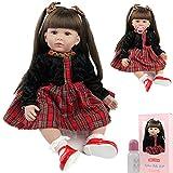 ZIYIUI Realista 24 Pulgadas 60 cm Reborn Baby Doll Girl Vinilo de Silicona Suave Vida Real de Pelo...