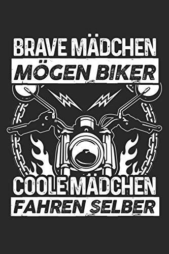 Coole Mädchen fahren Motorrad: Notizbuch / Notizheft für Motorradfahrerin Biker-Girl Motorrad-Fahren A5 (6x9in) liniert mit Linien