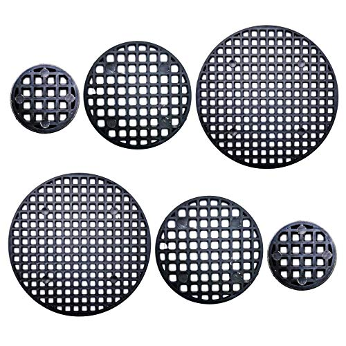Markeny Flower Pot Hole Mesh Pad, 150 Pieces Round Bonsai Bottom Grid Mat in 3 Size Diameter(0.98in, 1.77in, 2.95in)