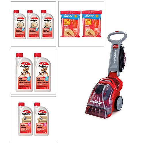 Rug Doctor Deep Carpet Cleaner with 1L Pet and Carpet Detergents, Fabric...