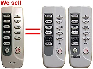 HA-15236 Replacement GE Air Conditioner Remote Control Model Number ARC-769 ARC-763 Works for ASH06LL ASH06LLS1 ASH08FK ASH08FKS1 ASH12AL ASH12ALS1 ASH18DK ASH18DKS1 ASM05LK ASM05LKS1 ASM05LL