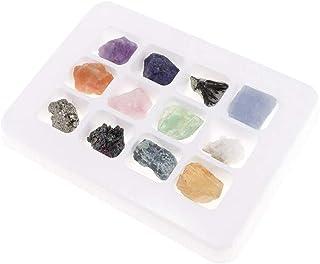 POFET Pedagogisk geologi vetenskap kit rock & mineral kollektion PK546–5 paket med 12