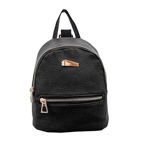 Mochila de piel sintética para dama, mochila de viaje, bolso de mano, mochila de verano para mujer