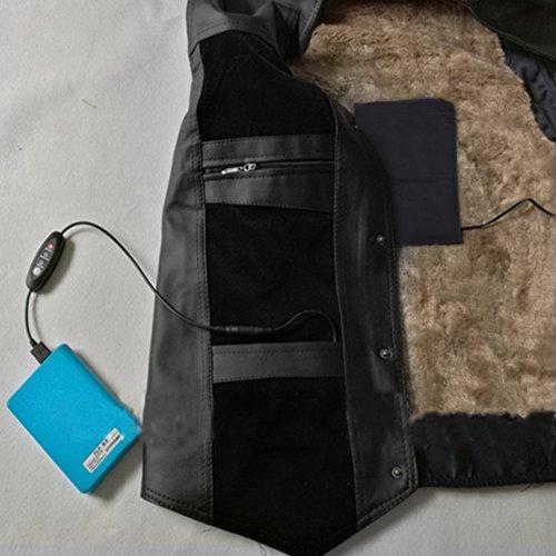 Qii lu Elektrische verwarmingskussen, 5 V, 2 A, 8,5 W, voor elektrische kleding, USB-verwarming, camping, outdoor, winter, nachts, lage temperatuur