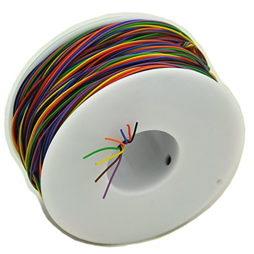Electronics-Salon One Roll 8 Farben 30 AWG Wire Wrapping Draht, Kupfer verzinnt Solide, PVC-Isolierung.