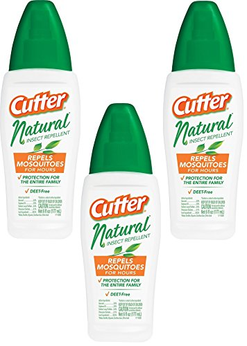 (3 Pack) Cutter Natural Insect Repellent 6 Ounce each