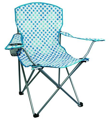 HIGHLANDER de Camping/Pesca Silla con reposabrazos y Soporte para Bebidas, Blue Swirl, FUR007-MB