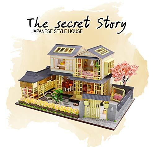 Kit modellismo fai da te Casetta mini di bambole in stile giapponese 'The Secret Story', bambini dai 14 anni in su e adulti.
