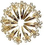 ANNA CREATIONS® Girls Women Stone TIC TAC Clips Hair Accessories Set 0f 12 pcs-Golden colour