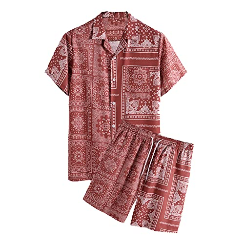 SSBZYES Camisa para Hombre Manga Corta Verano Traje Casual para Hombre Traje Informal para Vacaciones Traje...