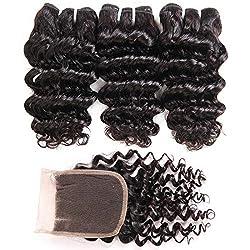 top 10 cheap curly weave Brazilian Deep Wave Beam with Shutter (8 8 8 + 8) 100% Raw Grade 10A Virgin Brazilian…