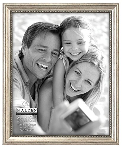 Malden International Designs Classic Wood Picture Frame, 8x10, Silver