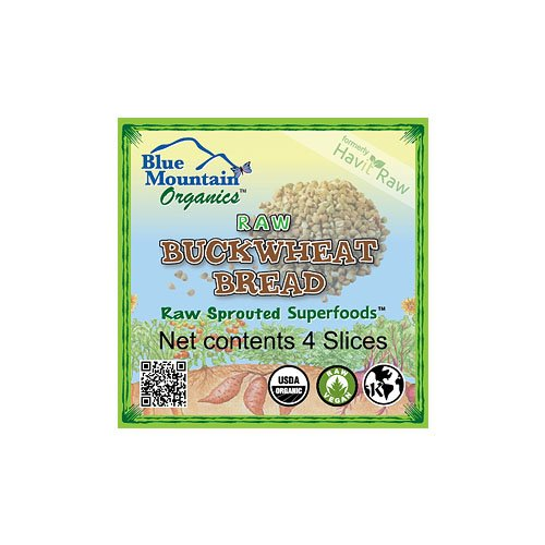 Blue Mountain Organics Raw, Vegan, Organic, Sprouted Buckwheat Bread (4 slices), 5 oz