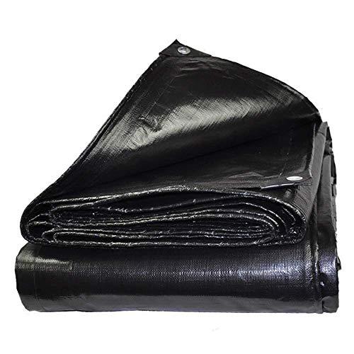 WTT Groot dekzeil, sterk hoogwaardig materiaal, waterdicht, groot voor overkapping tent, boot, camper of zwembad afdekking (afmetingen: 6 m x 6 m)