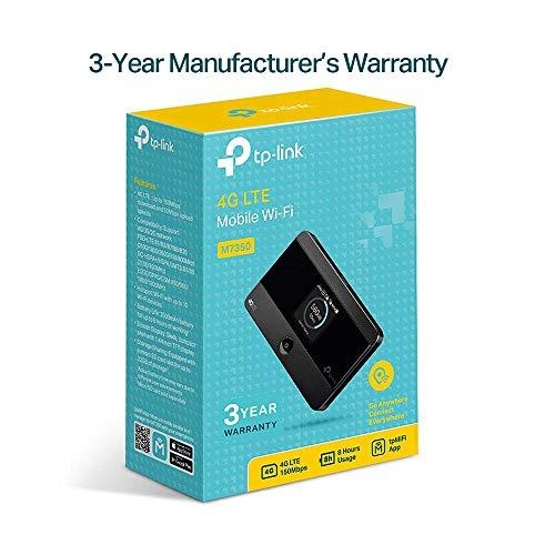 TP-Link M7350 mobiler 4G/LTE MiFi Dualband WLAN Router (UK Version - nicht für Deutschland)