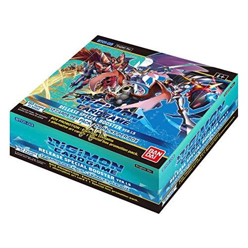 Bandai–Digimon TCG V1.5 Core Booster Box, englische Version, 24 Packungen, Sammelkartenspiel