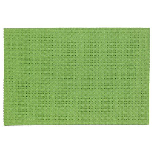 Kela 11368 Plato Set de table PVC/Polyester Vert 45 x 30 x 1 cm