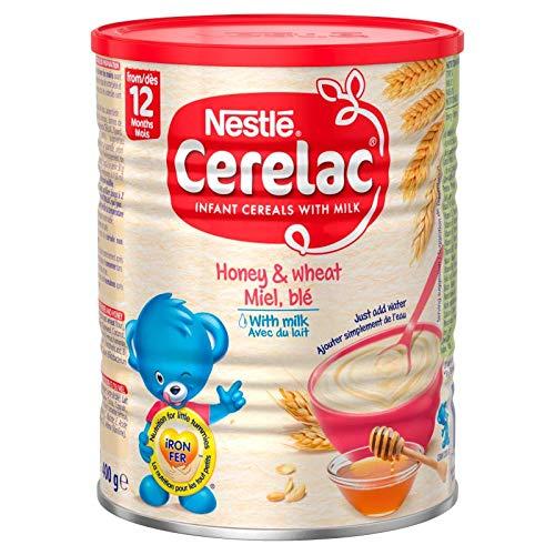 CERELAC Miel/Blé/Lait Dès 12 Mois Halal 400 g - Lot de 6
