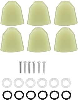Guitar Tuning Peg Button, 6 Pcs/Set Acrylic Tuning Pegs Buttons Machine Heads Buttons for Guitar(Green)