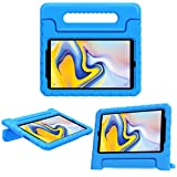 MoKo Case for Samsung Galaxy Tab A 8.0 2018 SM-T387, EVA Kids Shock Proof Convertible Handle Light Weight Protective Cover Compatible with Samsung Galaxy Tab A 8.0 Inch 2018 Release Tablet - Blue