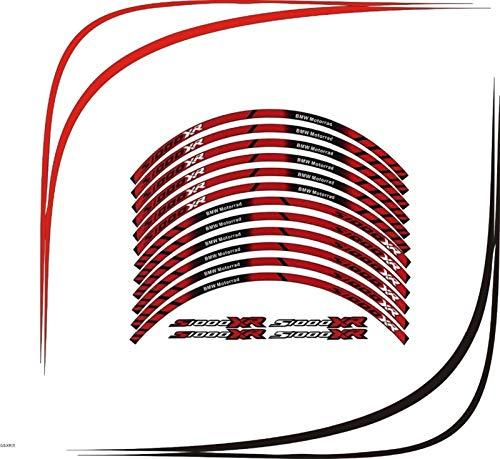 2 Color para BMW S1000XR Motocicleta Motorbike S1000XR Calcomanías de la Rueda Pegatinas Reflectantes Rim Stripes Moto Accesorios Juego Pegatinas (Color : TP 01)