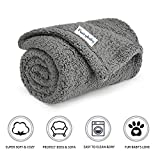 furrybaby Premium Fluffy Fleece Dog Blanket, Soft and Warm Pet Throw for Dogs & Cats (Small (2432'), Grey Blanket)
